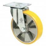 Колеса из алюминия с ошинковкой из полиуретана Norma з кроншт. поворотн с шарик.подшØ80-250мм