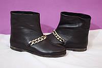 Стильные зимние женские ботинки на цигейке от TroisRois из натуральной турецкой кожи и прочной подошвы Коричневый