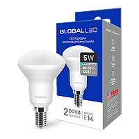 LED лампа GLOBAL R50 5W 4100K (яркий свет) 220V E14 (1-GBL-154)