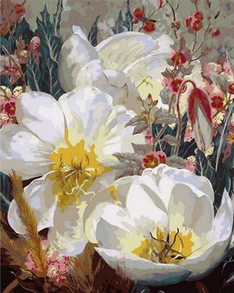 Набор-раскраска по номерам Белоснежные кувшинки худ. Элизабет Хортинг