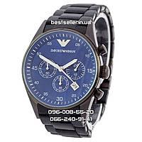 Часы Armani Classic Black Edition (Кварц). Реплика: AAA., фото 1
