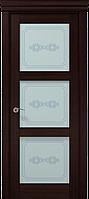 """Двери межкомнатные Папа Карло """"Milenium ML-07 бевелс"""" венге"""
