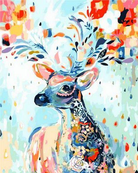 Набор-раскраска по номерам Сказочный олень худ. Коттерил Анне