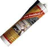 Битумный герметик / чёрный,герметизация швов вокруг дымовых труб,окон,трещин Sika BlackSeal-1
