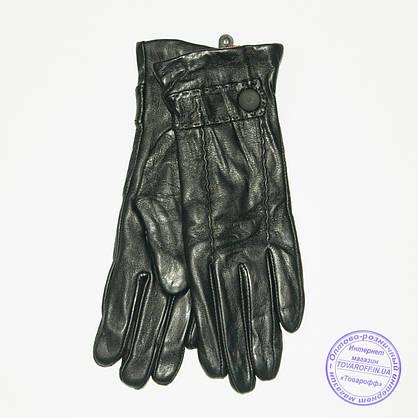 Оптом женские кожаные перчатки с вязаной шерстяной подкладкой - F31-1, фото 3