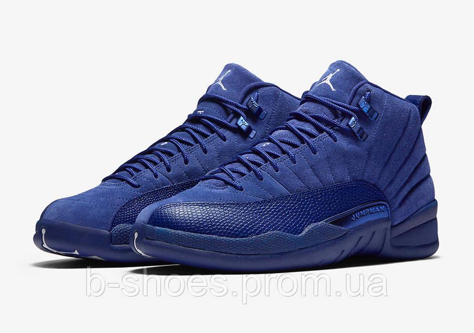 f572985f21284a Мужские баскетбольные кроссовки Air Jordan Retro 12 (Deep Royal Blue) - B- SHOES