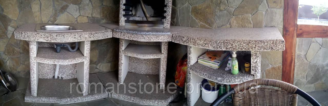 Барбекю, столешница из гранита - RomanStone изделия из мрамора, гранита, кварцита, акрила. Обработка и продажа камня. в Киеве