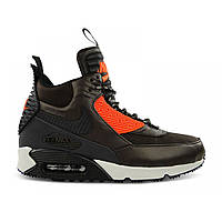 Кроссовки Nike Air Max 90 Sneakerboot Winter Dark Brown Red Black, фото 1