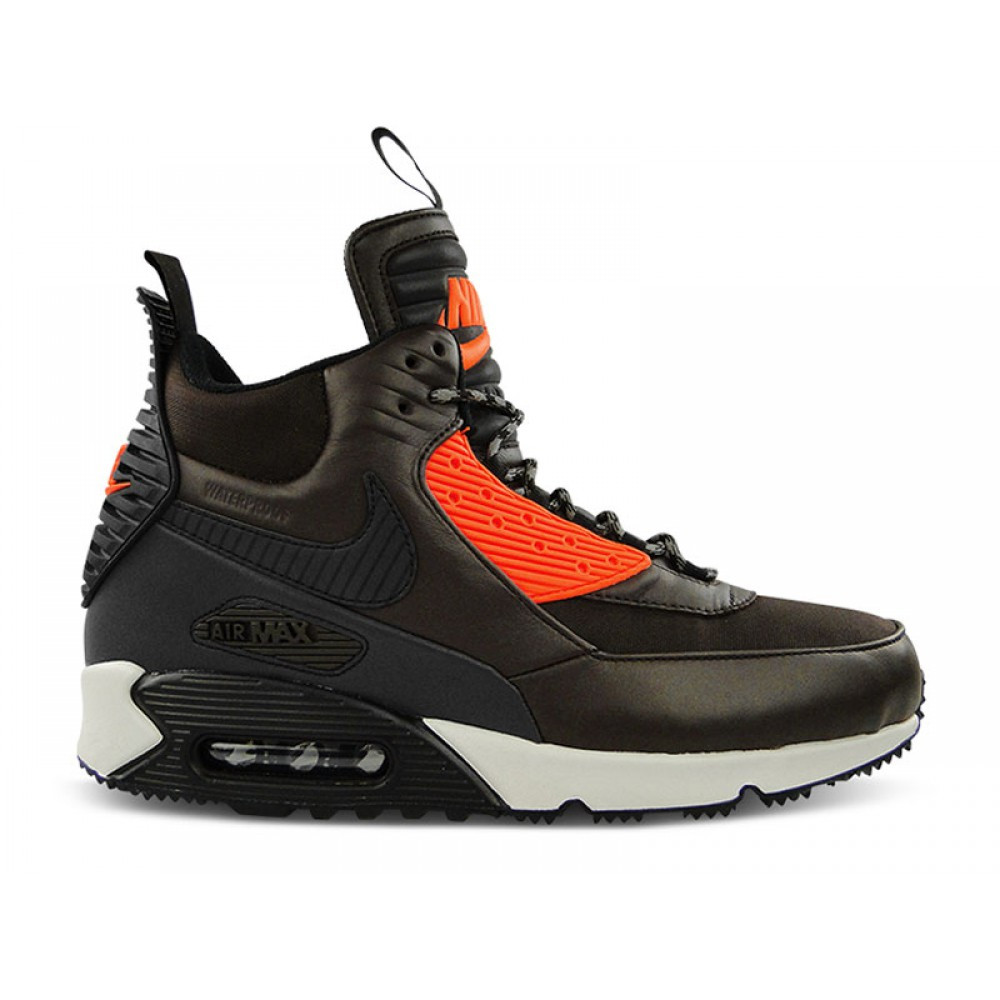 020c929a Кроссовки Nike Air Max 90 Sneakerboot Winter Dark Brown Red Black -  Интернет магазин обуви «