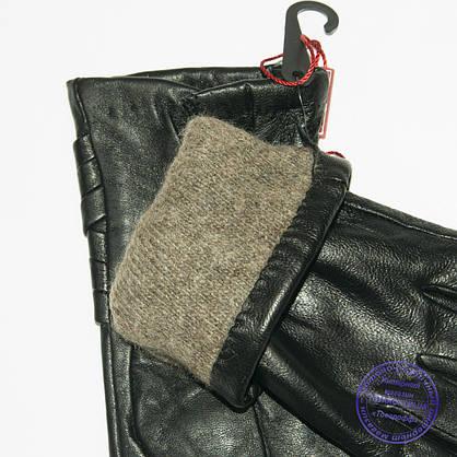 Оптом женские кожаные перчатки с вязаной шерстяной подкладкой - F31-3, фото 3