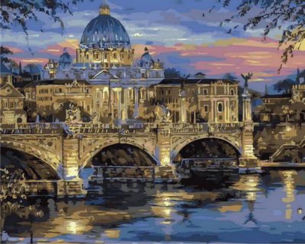 Набор-раскраска по номерам Сумерки над Римом  худ. Финале Роберт