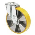 Колеса из алюминия с ошинковкой из полиуретана Norma з отверст. поворотн с шарик.подшØ80-200мм