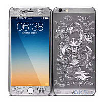 Защитное стекло Tempered Glass Dragon Series Apple iPhone 5, iPhone 5S, iPhone SE Silver (экран + задняя крышка)
