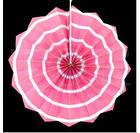 Бумажный веер с рисунком 30 см.  красный, фото 4