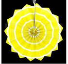 Бумажный веер с рисунком 30 см.  красный, фото 5