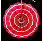Бумажный веер с рисунком 20 см.  нежно-розовый, фото 5