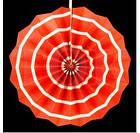 Бумажный веер с рисунком 30 см.  красный, фото 7