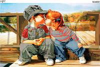 """Схема для вышивки бисером """"Первый поцелуй"""""""