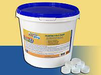 Многофункциональные таблетки хлора Crystal Pool - химия для бассейна MultiTab 4-in-1 Small – 1кг (табл.20г)