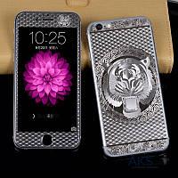 Защитное стекло Tempered Glass Tiger Series Apple iPhone 5, iPhone 5S, iPhone SE Silver (экран + задняя крышка)