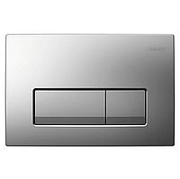 Смывная клавиша,двойной смыв, пластик, хром матовый GEBERIT Delta 51 115.105.46.1