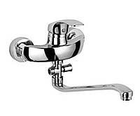 Смеситель для ванной однорычажный ROZZY JENORI BARON S-излив 350мм, хром 40мм