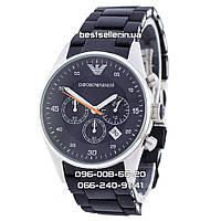 Часы Emporio Armani silver/black Silicone (Кварц). Класс: AAA, фото 1