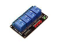 Блок реле relay module 4-канальный 5V
