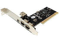 4 портовый Firewire IEEE 1394 4 6 Pin PCI контроллер