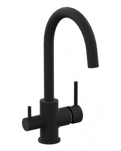 Смеситель для кухни IMPRESE DAICY-U с подключением питьевой воды, (черный)