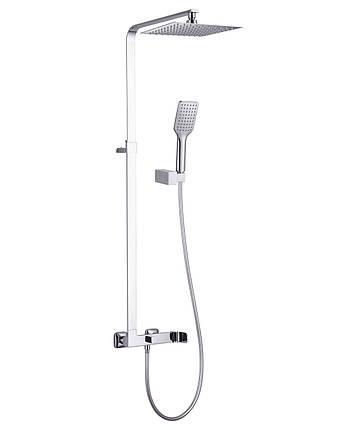Система душевая(смеситель для душа, верхний и ручной душ, держатель,шланг полим.1,5м) IMPRESE ODLOVE Т-15300, фото 2