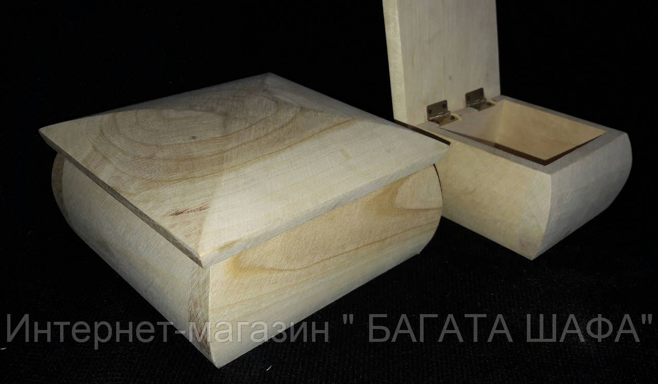 "Шкатулка деревянная квадратная, р-р 14х14х6 см (65\55) Цена за 1 шт+10 грн - Интернет-магазин "" БАГАТА ШАФА"" в Хмельницком"