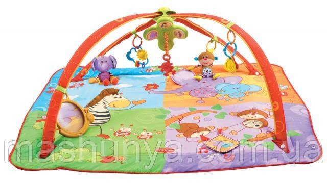Развивающий коврик с дугами Tiny love Разноцветное сафари