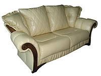 """Стильный кожаный диван """"Mayfaer"""" (Майфаер). (218 см)"""