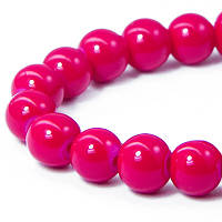 Бусины Стеклянные Имитация Коралла, Форма: Круглая, Цвет: Красный AD37, Диаметр: 6мм, Отверстие 1мм, около 135шт/нить, (УТ0027374)