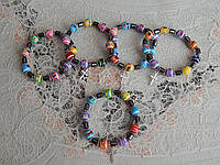 Красивый браслетик с крестиком разноцветный