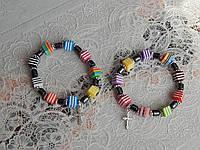 Браслет с цветными кубиками и крестиком, фото 1