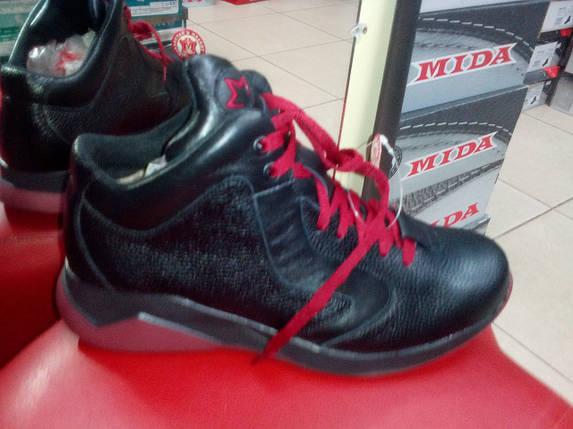 Спортивные мужские ботинки зимние МИДА 14033 из натуральной кожи., фото 2