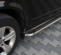 Ford Connect 2006-2009 гг. Боковые площадки Premium (2 шт., нерж.) 42 мм, Макси база