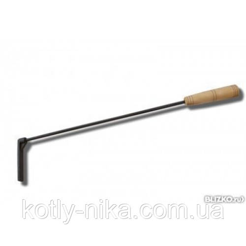 Кочерга для котла з дерев'яною ручкою