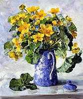Картина-раскраска Mariposa Букет в синем кофейнике Худ Коттерил Анне  40 х 50 см