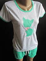Молодежные пижамы футболка с шортами., фото 1