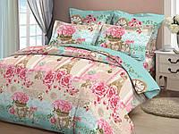 Комплект двуспального постельного белья 100% хлопок набор
