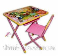 Набор детской трансформируемой мебели №3 «Чебурашка», розовый