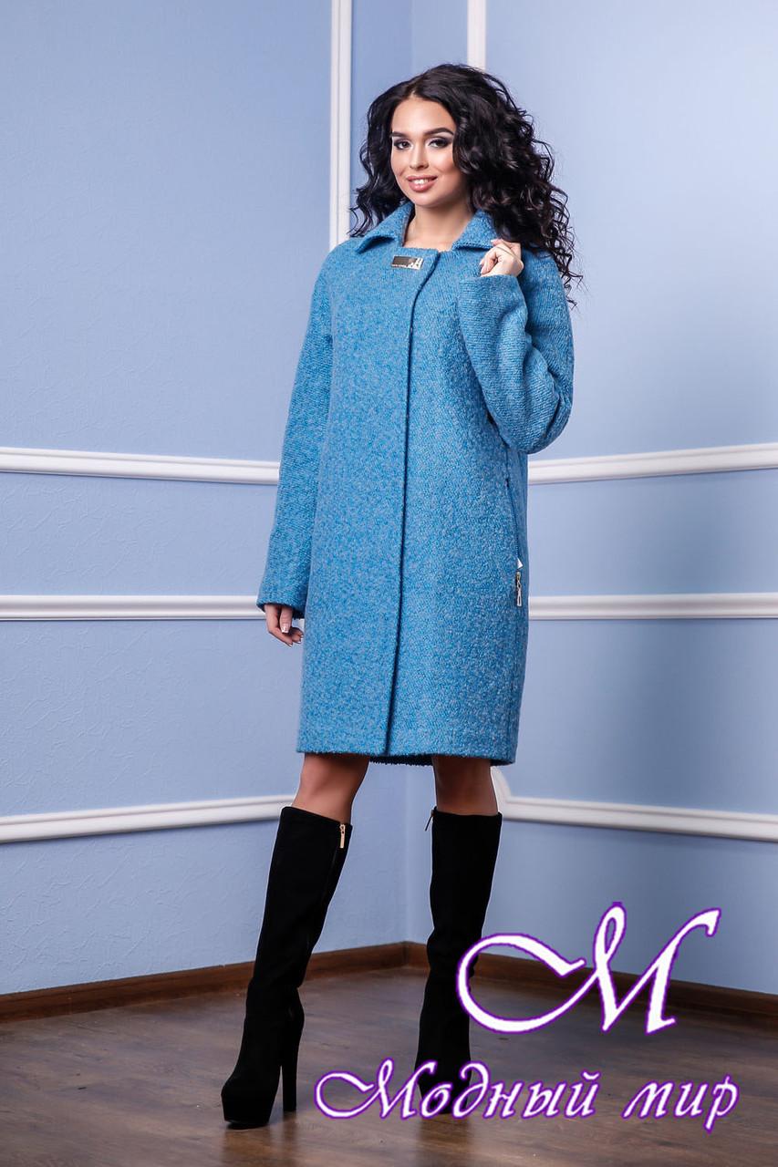 Женское стильное демисезонное пальто больших размеров (р. 44-56) арт. 985 Тон 31