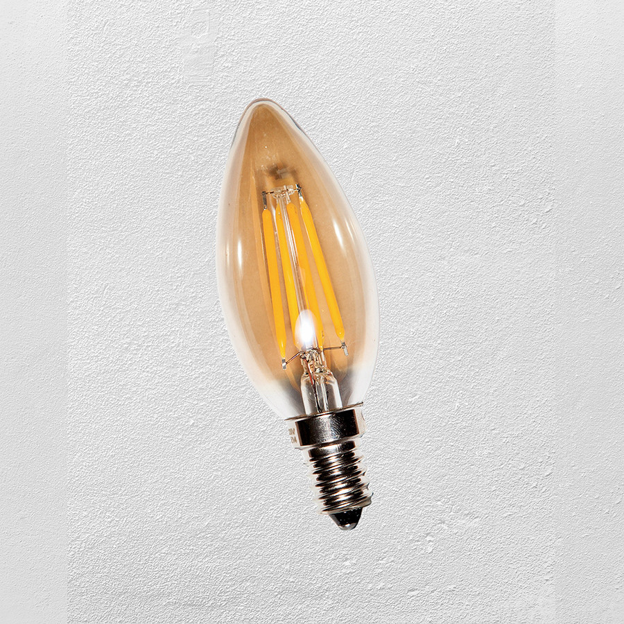Лампа LED  С35 Е-14 (с сапфировой нитью) 2700К