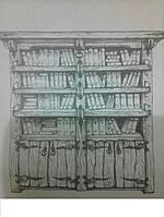 Шкаф книжный из натурального дерева