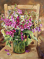 Картина по цифрам Mariposa Душистый горошек Худ Коттерил Анне  40 х 50 см