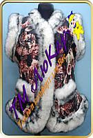 Меховая эко-безрукавка