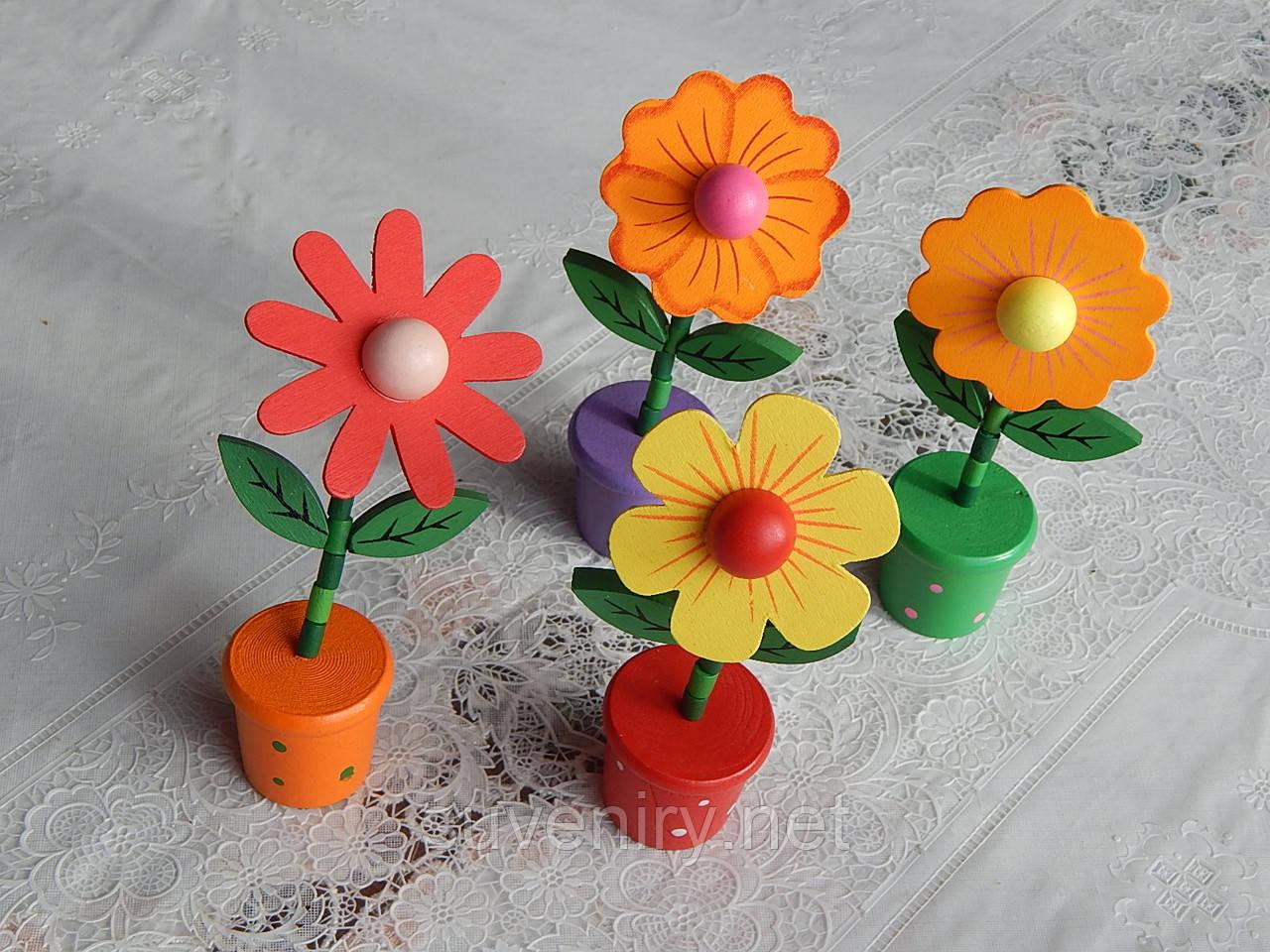 Детские деревянные игрушки падающие цветочки